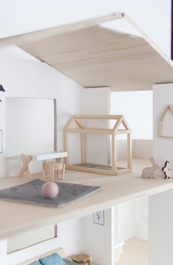 DIY Puppenhausbett Hausbett