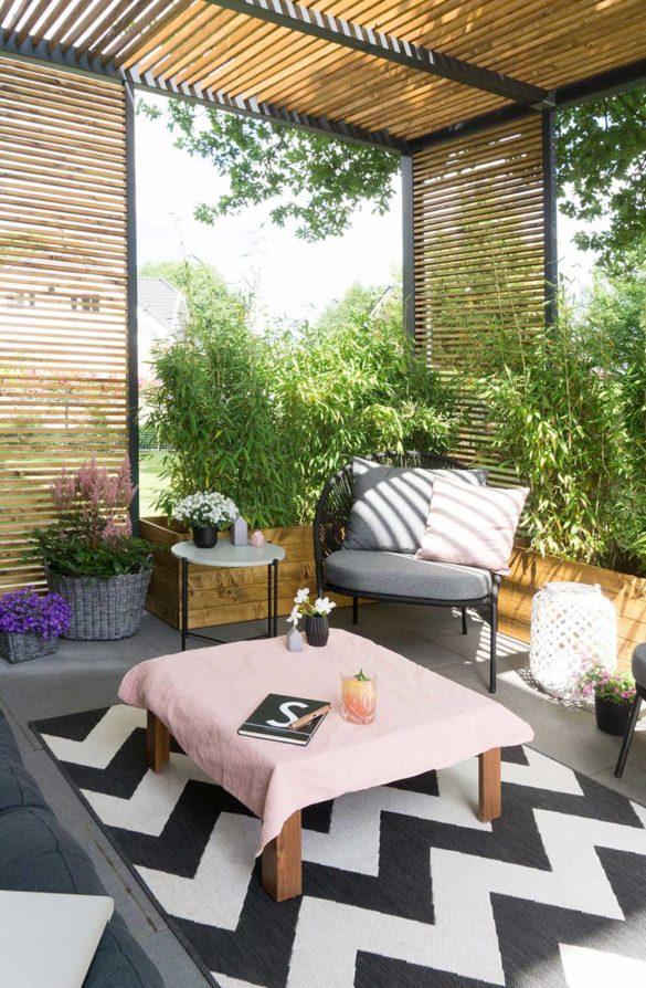 Sichtschutz Terrasse Holz DIY