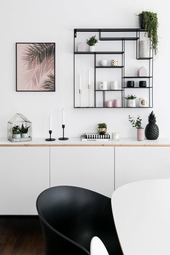 Wandregal schwarz Ikea Besta