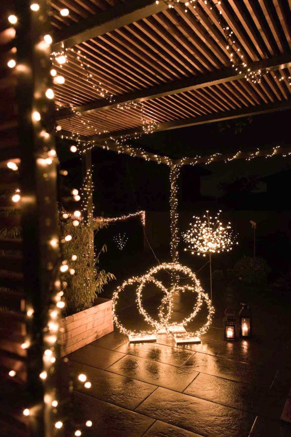 LED Lichterketten Terrasse