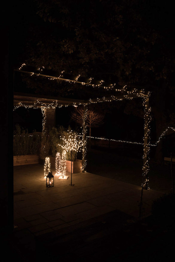 Lichterketten Terrasse Inspiration