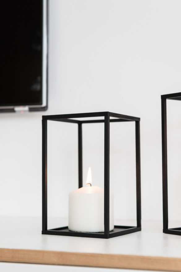 Kerzenhalter Kubus Quader DIY Anleitung