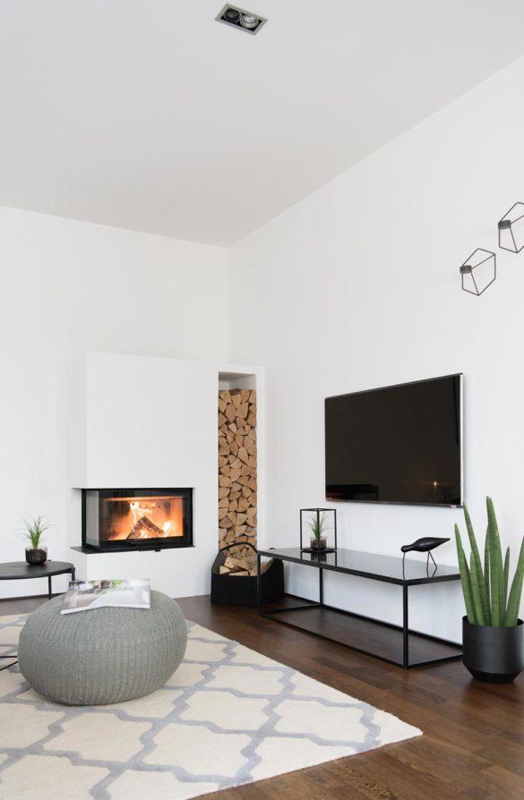 Wohnzimmer Eckkamin TV Board