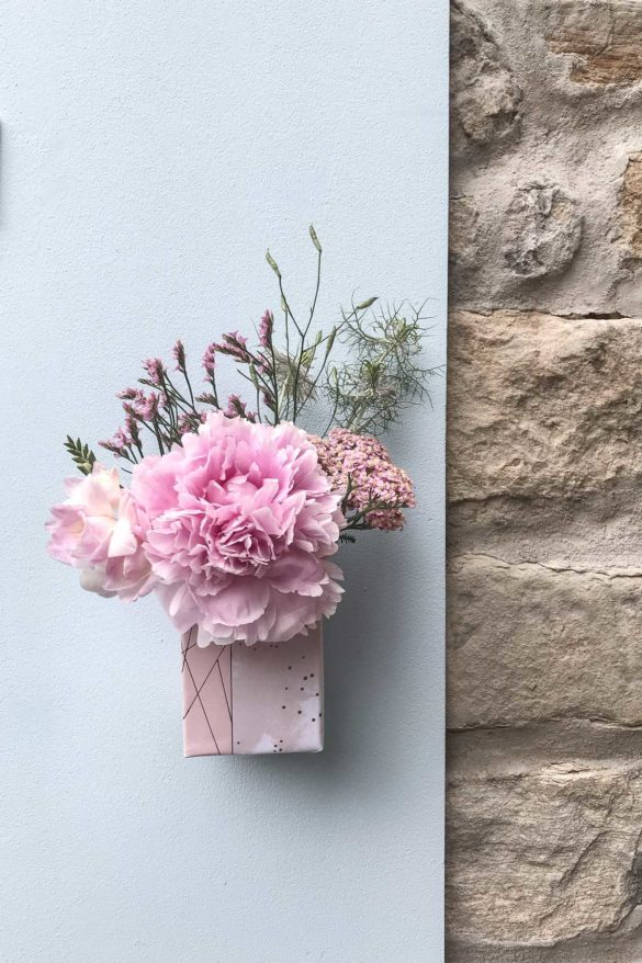 DIY Vase Saftkartons
