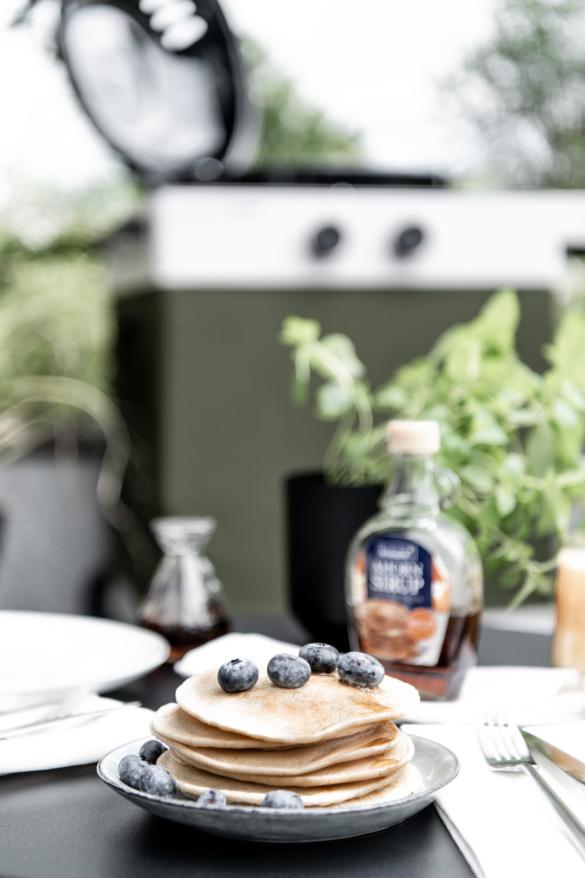Pfannkuchen vom Grill