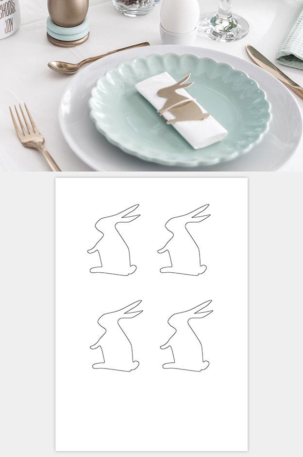 Osterhase Tischdeko Vorlage