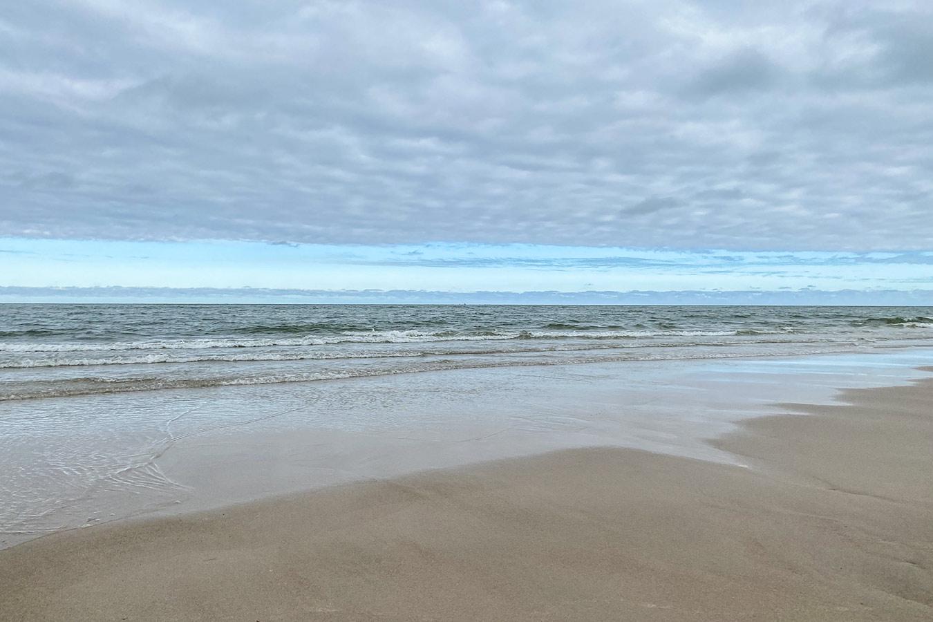 Leerer Strand Rantum Sylt