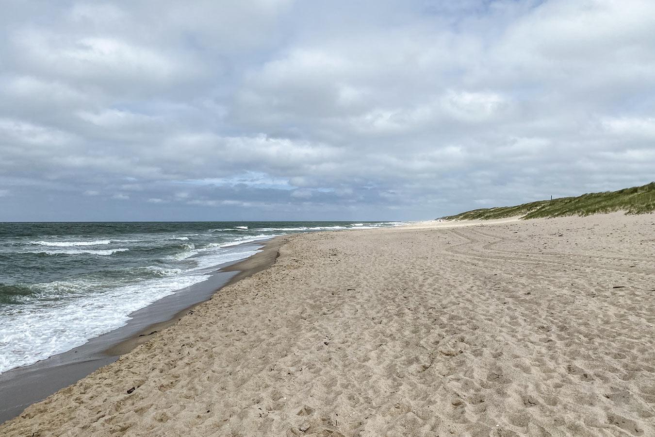 Leerer Strand in Rantum auf Sylt