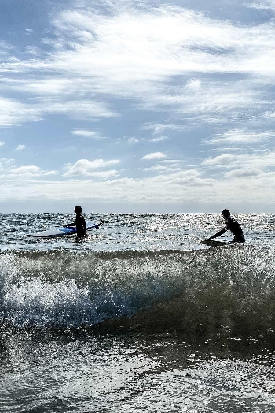 Wellenreiten Sylt